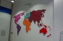 Mapa świata wykonana ze styroduru 4 cm