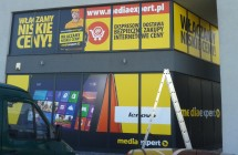 Oklejanie witryn sklepowych