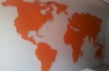Mapa na ścianę