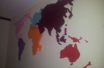 Przestrzenna mapa na ścianę