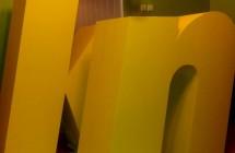 Duże litery ze styroduru