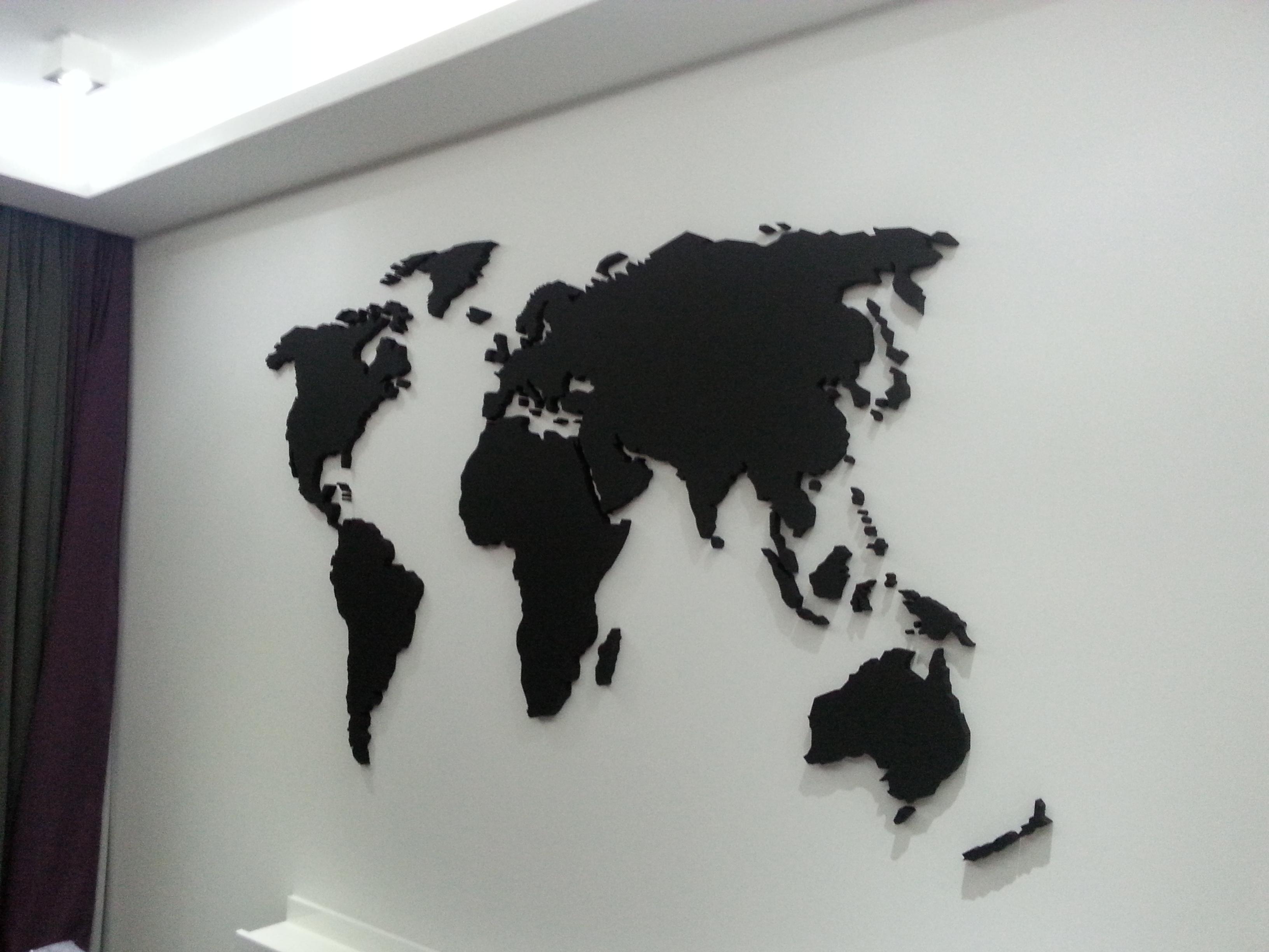 Mapa Swiata na Sciane Mapa 3d Mapa 3d na Sciane