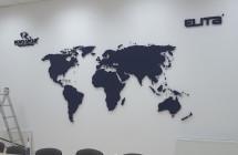 Mapa Świata, samodzielny montaż klienta