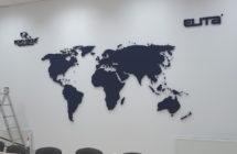 Mapa przestrzenna na ścianę