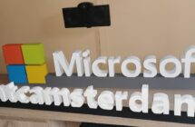 Logo Microsoft ze styroduru